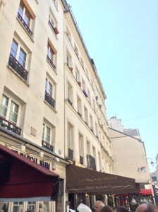 Hemingway's studio above the restaurant on, Rue Descartes, Paris
