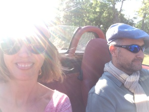 Cruising through the Luberon with Fred in his racing car