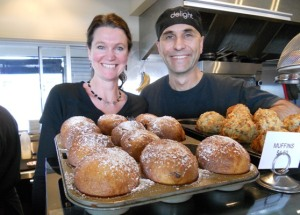 Owners of Delight Cafe, Kimberley and Noyan.  Photo courtesy of purewaiheke.co.nz