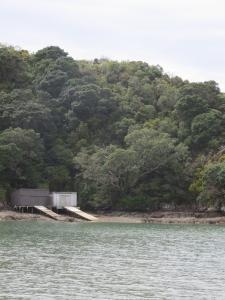Boat houses, Oneroa Beach, Waiheke Island, New Zealand