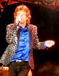 Mick Jagger shaking it like no 70-year-old I've ever seen. (image copyright Caroline Barron 2014)