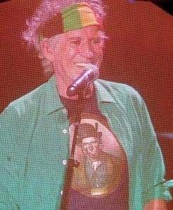 Keith Richards in his Charles F. Goldie tshirt