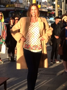 A slightly different interpretation of the Eugenie coat...modelled by moi