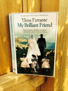 My Brilliant Friend by Elena Ferrante, translation by Ann Goldstein, Europa, 2012, NY.