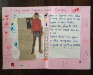 A story by cousin Sophia (aged 5) and an article about me from the Sunday Star Times, 2005. I was such a name-dropper!