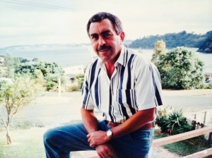 Dad at Matheson's Bay, north of Auckland, circa 1995.
