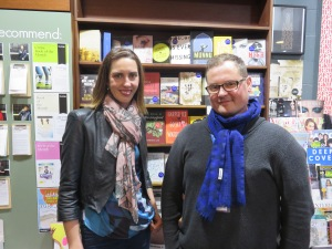 Me and award-winning author Alec Patric at Readings Bookshop in St. Kilda, Melbourne. Image copyright Caroline Barron 2015