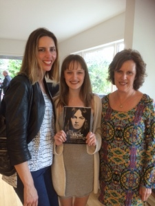 Keeping great company at the book launch—with cover girl (and my cousin) Sophia, and the author (my aunt), Elsbeth Hardie. Image copyright C. Barron 2015