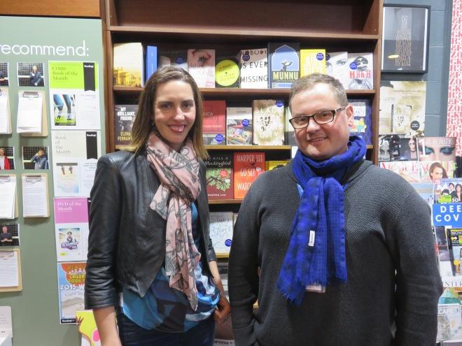 Caroline Barron and Alec Patric at Readings Book Store, Melbourne, 2015. Image copyright Caroline Barron